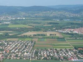 Ferienwohnung Monteurwohnung Mohr Einhausen Luftaufnahme